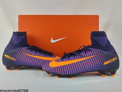 a573d3d05 Nike JR Mercurial SuperFly V 5 FG Soccer Cleats 831943-585 Purple Dynasty  Citrus