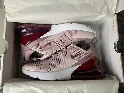 85d24ae878 Nike Womens Air Max 270 Barely Rose Vintage Wine Size 6.5 Brand New AH6789  601