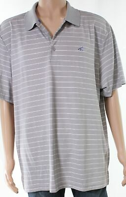 f1d929725 Attack Life NEW Gray Mens Size 2XL Striped Logo Embroidered Polo Shirt $52  138