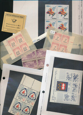 WORLDWIDE LOT OF STAMPS INCLUDING BOOKLETS SOUVENIR SHEETS  MORE 5 scans! lot y1