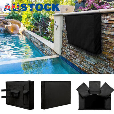 30 -32 Inch Waterproof TV Cover Outdoor Patio Flat Television Protector Black U