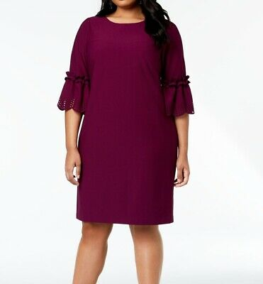 767adb080c2c Jessica Howard NEW Purple Womens Size 18W Plus Laser-Cut Sheath Dress $99  384