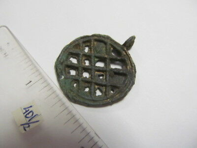 "Ancient bronze pendant ""sown field"" Kievan Rus Vikings 11-13 AD № 401/2."