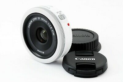 Canon EF 40mm f2.8 STM Lens white [Near Mint] from Japan