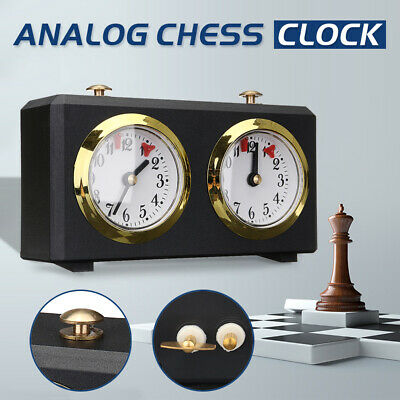 Profession Analog Chess Clock I-GO Count Up Down Timer For Game Competition