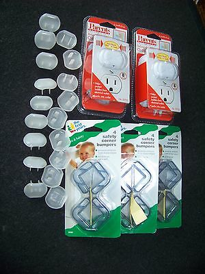 16 Parents Deluxe Press-fit Outlet Plugs 12 Safety corner bumpers 18 plain plugs