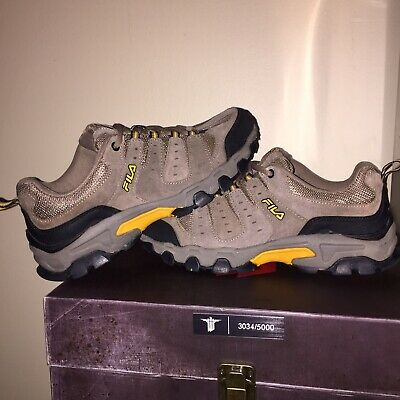 Nice Fila Brown Trail Travail Mens Hiking Walking Shoes Mens Size 8