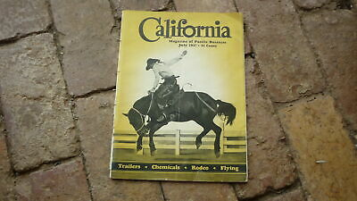1937 CALIFORNIA, THE MAGAZINE OF PACIFIC BUSINESS, TRAILERS RODEO, FLYING etc