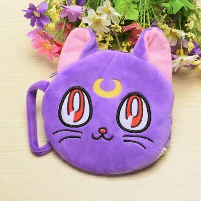 Luna Artemis Cats Plush Cotton Cash Hand Bag Change Purse Sailor Moon Cosplay