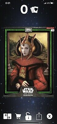 TOPPS STAR WARS CARD TRADER ILLUSTRATED CTI 2019 PADME AMIDALA GREEN - Digital