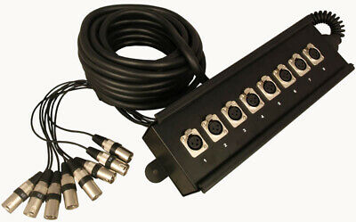 8 Inputs Stage Box Snake (INPUTS Only) 10m