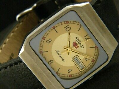 VINTAGE SEIKO 5 AUTOMATIC JAPAN MEN'S DAY/DATE WATCH 102-a107524-8