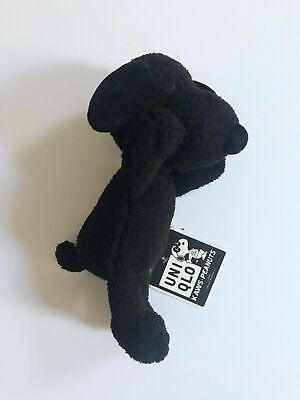 KAWS x Peanuts × Uniqlo SNOOPY Plush Toy Size Small Black Brand New With Tags