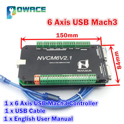 USB Port 6 Axis Mach3 125KHz NVCM Stepper Motor Control Card CNC Controller Kit