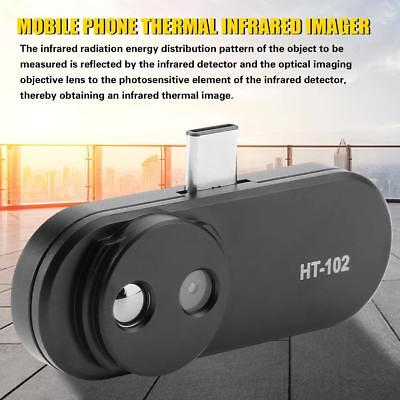 HT-102 Mobile Phone Thermal Infrared Imager Support for Android Phones Black CU