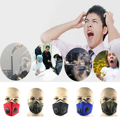 Anti Dust Pollution Half Face Mask Filters Cycling Motorbike Motorcycle BicycleR