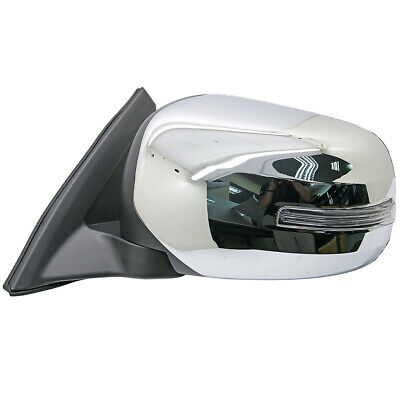 Chrome Door Wing Mirror Left LH 5P w/ LED For Mitsubishi L200 Pickup 2005-2014
