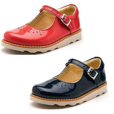 Clarks Crown Jump Mary Jane Toddler Shoes in Navy & Pink Patent