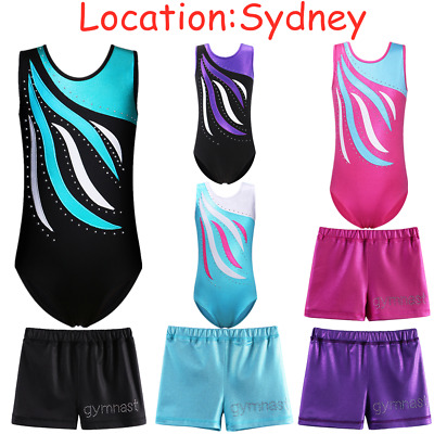 AU Warehouse Gymnastic Kid Ballet Leotards Girl Gym Dancewear Sleeveless Unitard