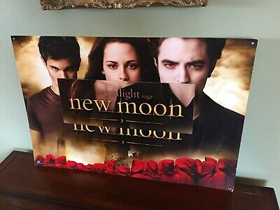 Twilight New Moon Rare Movie Theater Promo Hanging SIGN Poster Card 5FT X 3FT