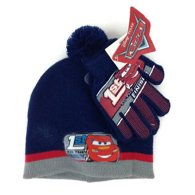 b31fd7b3cce Childrens Winter Beanie Hat Gloves Disney Pixar CARS Lightning McQueen 1st  Gen