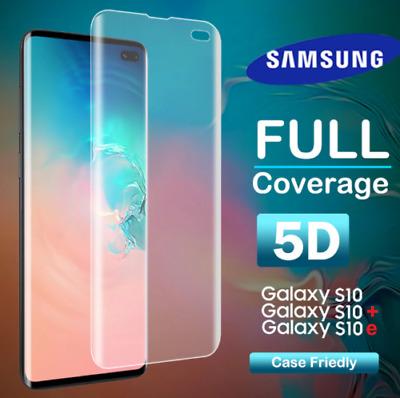 For Samsung Galaxy S10 Plus S10e 5D Full Premium Tempered Glass Screen Protector