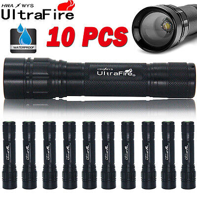10X Ultrafire 20000lm T6 LED Zoomable Flashlight Mini Torch Lamp Light Camping ∆