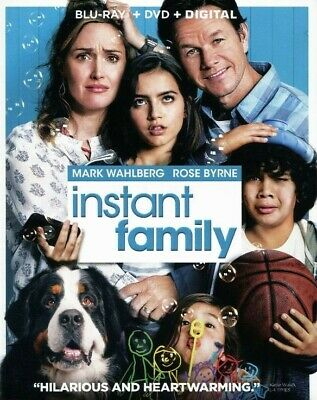 Instant Family [Blu-Ray, DVD, Digital] Brand New & Sealed! Free Shipping!