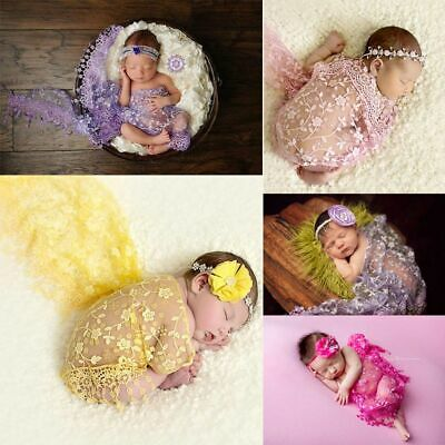 Lace Baby Newborn Tassels Photography Prop  Cheesecloth Wrap Rose Textured