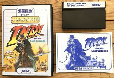Indiana Jones And The Last Crusade Complet Master System Pal Euro Cib Ovp Indy