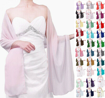 New Chiffon Shawl Bridal Bridesmaid Wedding Prom Party Shawl/Stole/Wrap/Scarf