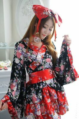 Lolita Maid Uniform Outfit New Girls Kimono Japanese Anime Cosplay Costume Dress