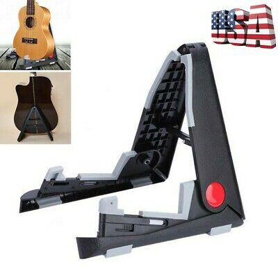 Folding Support Foldable Guitar Stand Parts For Music Electric Ukulele Violin US