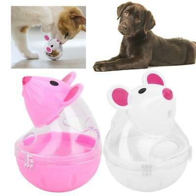 Pet Cat Dog Leakage Feeder Slow Food Dispenser Mice Tumbler Design Ball Toy