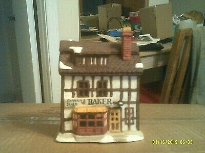 Dept 56 Shops Of Dickens Village Series - Golden Swan Bakery  Mib W/cord