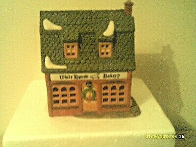 Dept 56 Dickens Village Series - White Horse Bakery  Mib W/cord