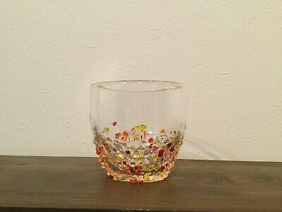 Ryukyus glass cup  Okinawa limited red Gift  F/S