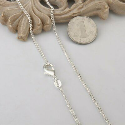Womens Sterling Stainless Steel Silver Oval Link Necklace Chain 16/18/20/22/24