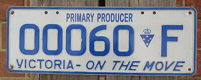 License Plate Number Plate VIC Farm  Primary Producer  Nice low number  00060F