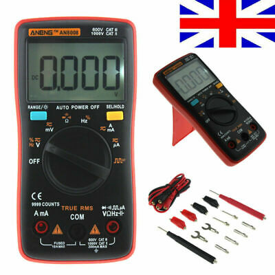 Digital Multimeter AC DC Voltmeter Ohmmeter Electrical Multi Tester Handheld UK