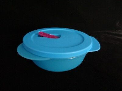 FREE SHIP Tupperware CrystalWave PLUS 2 1/2 Cup/600 ml Round on go microwave NEW