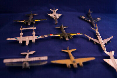 Job Lot Of Early Vintage Die Cast Toy Planes And Aircraft