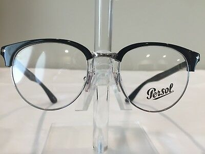 7653677b2a Persol 8129-V Men s Clubmaster Style Eyeglass Frame color 95 NEW! Authentic!