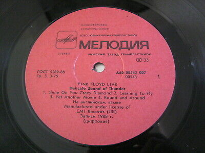 Pink Floyd-Delicate Sound Of Thunder - Russian Release 1988 Ex+