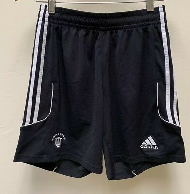 Indiana Hoosiers Adidas Climalite Athletic Shorts: Black/White- Girls Medium