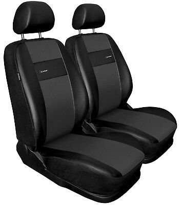 Front seat covers fit Seat Toledo black/grey  Leatherette