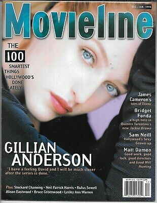 Movieline Magazine December January 1998 (Vf/nm) Gillian Anderson Of The X-Files