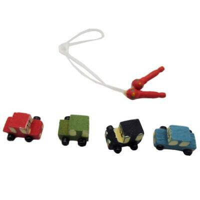 Dollhouse 4Pcs Miniature Wooden Car Rope Skipping FOR 1/12th Dolls House Toy