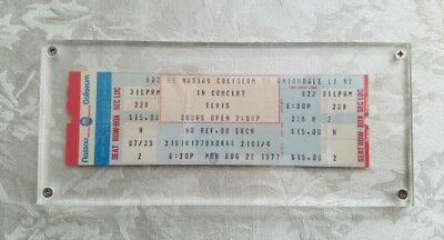 elvis Presley , rare 1977 original concert ticket .