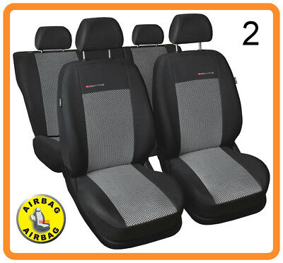 Car seat covers full set fit Ford Fusion - charcoal grey